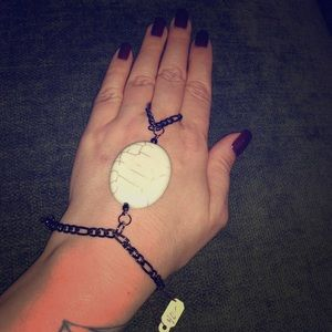 Jewelry - NWT Hand Chain Bracelet with Stone Accent